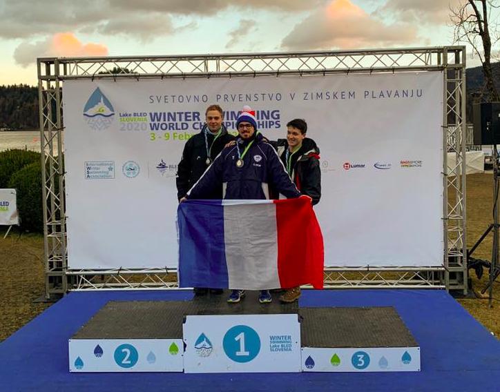 Julien Zinsmeister Vítek Wins International Winter Swimming World Championships 450m
