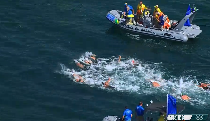 Punches Observed In Olympic Open Water Final